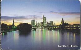 Telefoonkaart.- Duitsland. Telefonkarte 12 DM. Frankfurt, Skyline. Hessen. - Duitsland