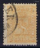 Norway: Yv Nr 12 1867 Used - Gebruikt