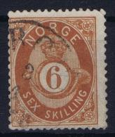 Norway: Yv Nr 20  Mi Nr 20 1872 Used