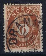 Norway: Yv Nr 20  Mi Nr 20 1872 Used - Gebruikt