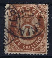 Norway: Yv Nr 21  Mi Nr 21 1872 Used - Gebruikt