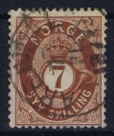 Norway: Yv Nr 21  Mi Nr 21 1872 Used