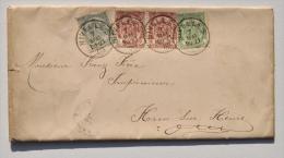 HAM-SUR-HEURE : Enveloppe Expédiée De NIVELLES Vers Imprimeur Franz FRERE En 1906 / Motif Floral En Couleurs ART NOUVEAU - Ham-sur-Heure-Nalinnes