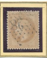 N°28  ETOILE DE PARIS CHIFFRE 38. - 1863-1870 Napoleon III With Laurels