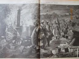 Guerre  14-18   La  Distribution De La Soupe   Aupres Du Front + Ferme Beausejour  Mesnil-les-hurlus Perthes Tahure - Old Paper