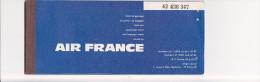 Billet D'Avion - AIR FRANCE - Paris , Zurich, Franfort, Cape Town, Port-Elisabeth, Durban, Johannesboug En 1968 - Monde