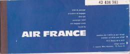 Billet D´Avion - AIR FRANCE - Paris , Zurich, Franfort, Cape Town, Port-Elisabeth, Durban, Johannesboug En 1968 - Monde