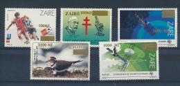 ZAIRE CONGO KIN 1994 ISSUE COB 1484/88 MNH - 1990-96: Neufs