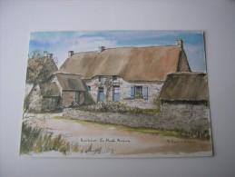 44 - KERHINET BRIERE  * L'AUBERGE *  ( LOIRE ATLANTIQUE ) ILLUSTRATION AQUARELLE  DE ROLAND CHETELAT - Frankrijk