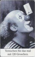 Telefoonkaart.- Duitsland. Telefonkarte 12 DM. Verschuchen Sie Das Mal Mit 129 Groschen. Clown. - Duitsland