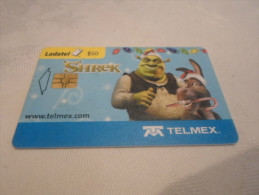 MEXICO - nice phonecard SHREK + donkey