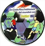 COSTA RICA 500 COLONES  MUNDIAL SOCCER FOOTBALL SPORT PIN READ DESCRIPTION !!!