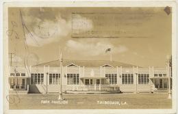 Thibodaux Louisiane Park Pavilion Real Photo Passed By US Censor 1944 To Santa Clara Cuba - Etats-Unis