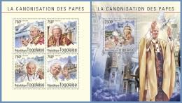 tg14604ab Togo 2014 Pope John Paul II 2 s/s