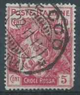 Italia 1915 Usato - Croce Rossa 10c+5c VEDI SCAN Dente - Oblitérés