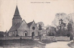 76 CAILLEVILLE  Coin Du VILLAGE  EGLISE Et Son CIMETIERE écrite 1930 - France