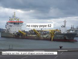 boulogne sur mer-le port-drague suceuse causeway - photo