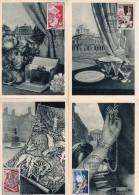 FRANCE : CARTE MAXIMUM : N° 970/74 .1954 . LES MÉTIERS D'ART  . SUR 5 CARTES . TB . - 1950-59