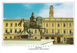1 AK Slowenien * Reiterstandbild Von Rudolf Majster In Der Hauptstadt Ljubljana *
