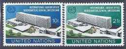 1974 NATIONS UNIES 237-38** Batiment Travail - New York -  VN Hauptquartier