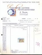 Facture Faktuur Brief Lettre Photogravure Gantoise - Gentse Lichtetserij - Devolder Gent 1958 - Printing & Stationeries