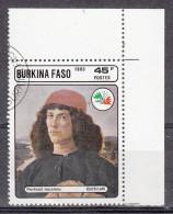 Burkina Faso, 1985 - 45fr Portrait Of A Man - Nr. 749B Usato° - Burkina Faso (1984-...)