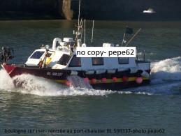 boulogne sur mer-rentr�e au port chalutier -BL598337-- photo