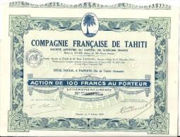 COMPAGNIE FRANCAISE DE TAHITI - Tourisme