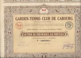 GARDEN TENNIS CLUB DE CABOURG - Sports