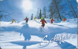Telefoonkaart.- Duitsland. Telefonkarte 12 DM. Schifohr'n !  Sneeuw. Ski. - P & PD-Reeksen : Loket Van D. Telekom