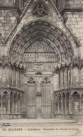 BOURGES CATHEDRALE ENSEMBLE DU PORTAIL ST-URSIN ( LOT P12 ) - Eglises Et Cathédrales