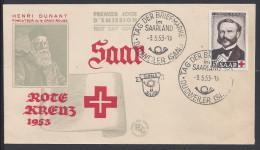 SARRE - 1953-54 -  LOT DE SEPT PREMIER JOUR - TB - - FDC