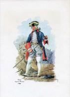 VP - Militaria - Sapeur Mineur Du Génie En 1758 - Gravure Signée André Marcy - Uniforme - Documents