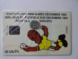 RARE : NETBALL SOUTH PACIFIC MINI GAMES DECEMBER 1993 (MINT CARD WITH BLISTER) - Vanuatu