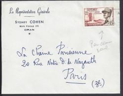 """ALGERIE - 1956 -  """"LA REPRESENTATION GENERALE """" -  LETTRE DE ORAN POUR PARIS - - Storia Postale"""