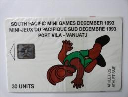 RARE : ATHLETICS  SOUTH PACIFIC MINI GAMES DECEMBER 1993 (MINT CARD WITH BLISTER) - Vanuatu