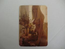 Sexy Girl Erótic Nu  Portugal Portuguese Pocket Calendar 1989 - Kalender