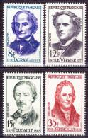 Série De 4 Timbres-poste Neufs** - Lagrange Le Verrier Foucault Berthollet - N° 1146-1147-1148-1149 (Yvert)  France 1958 - Ungebraucht