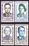 Série De 4 Timbres-poste Neufs** - Cavaillès Scamaroni Michel-Lévy Bingen - N° 1157-1158-1159-1160 (Yvert) - France 1958 - France