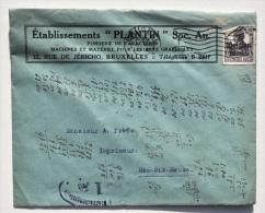 Enveloppe Etablissements PLANTIN Bruxelles - Fonderie De Caractères, Machines Et Matériel Pour Arts Graphiques - Commerce