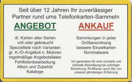 Telefoonkaart.- Duitsland. Telefonkarte 5 €. Angebot.  Ankauf. Jochen Goedert. Zukunftstr. 54. Mainz. - P & PD-Reeksen : Loket Van D. Telekom