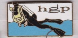 Superbe Pin´s En EGF , Plongée , HGP - Duiken