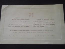 42 FEURS  Et  03 St-GERMAIN-des-FOSSES - Faire-Part De Mariage Entre Jean GUERRE Et Lina PROST - 18 Juin 1925 - Mariage