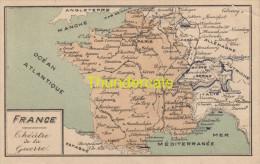 CPA CARTE GEOGRAPHIQUE   ** KAART LANDKAART ** MAP **  FRANCE EDIT. RINQUEL BRUXELLES - Cartes Géographiques
