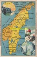 CPA CARTE GEOGRAPHIQUE   ** KAART LANDKAART ** MAP **  PUB REMY SUEDE NORVEGE - Cartes Géographiques