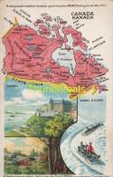 CPA CARTE GEOGRAPHIQUE   ** KAART LANDKAART ** MAP **  PUB REMY CANADA DOMINION DU - Cartes Géographiques