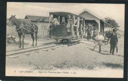 CAP FERRET - Départ Du Tramway Pour L'océan (belle Carte Animée) - Autres Communes