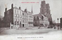 Orléans - Place De L'Etape Et Le Théâtre - Publicité Biscuits Ninot & Bastide Lyon - Carte Staerck Non Circulée - Orleans