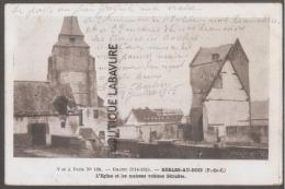 62----BERLES AU BOIS--L'Eglise Et Les Maisons Voisines Détruites--WW1 - Andere Gemeenten