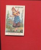 MAISON GODCHAU PETITE CHROMO  GAND  ROYGHEM PASSAGE GUE JEUNE FILLE QUENOUILLE RUISSEAU - Unclassified